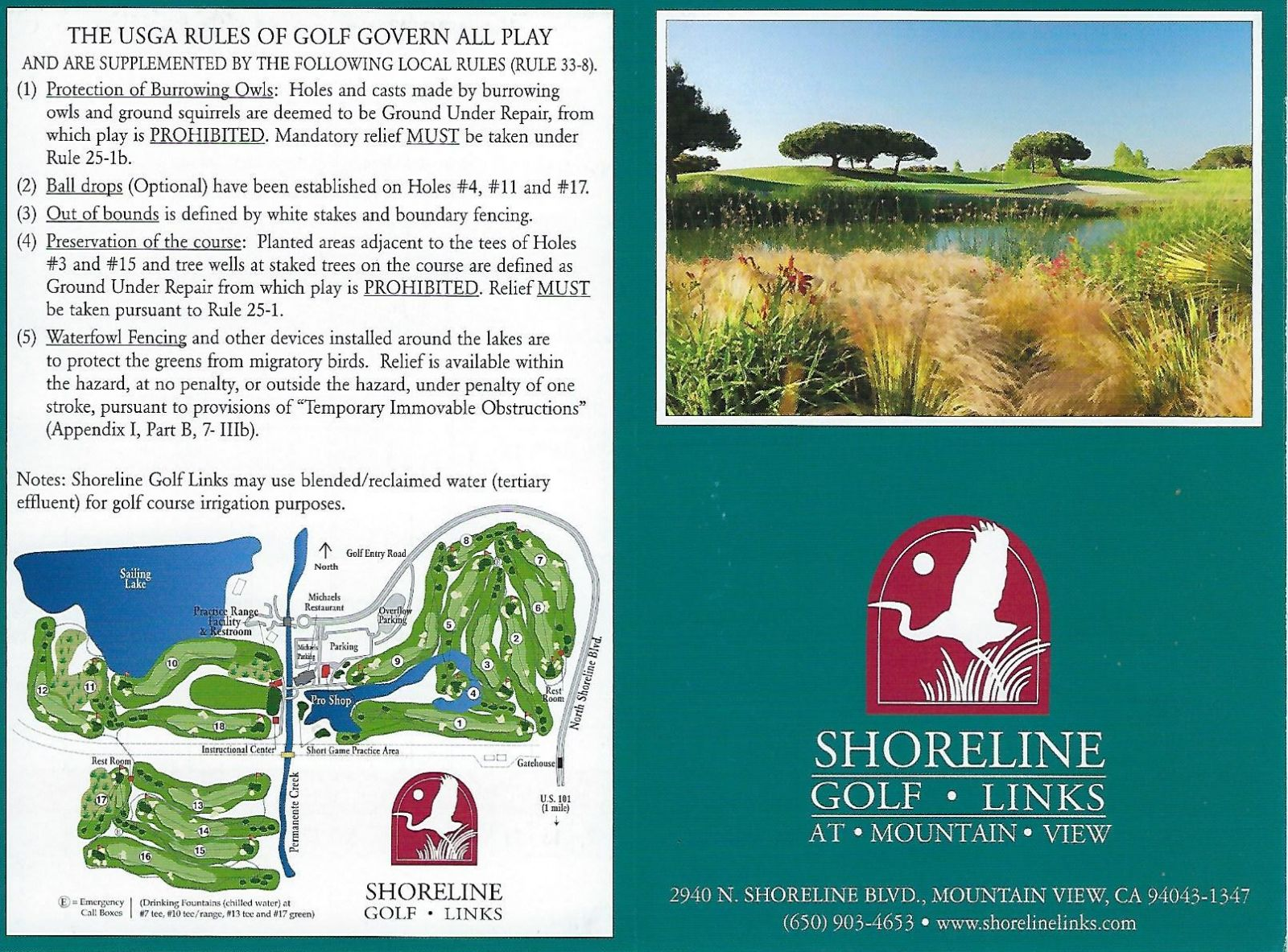 Shoreline Golf Links rules